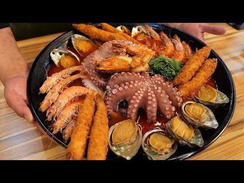 거대한 대왕 짬뽕/ giant seafood noodles – jjamppong / korean street food