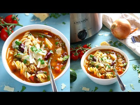 Best Ever Slow Cooker Minestrone Soup Recipe