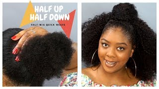 "Half Up Half Down Half-Wig Quick Weave | Outre ""Cassie"" 