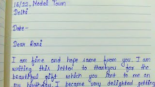 Write a letter to your friend thanking him for the birthday gift | Informal letter
