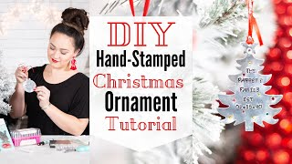 DIY Hand-Stamped Metal Christmas Ornaments With ImpressArt