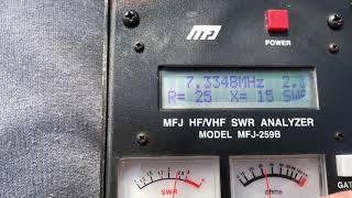 End Fed Half Wave Antenna Test And Tuning
