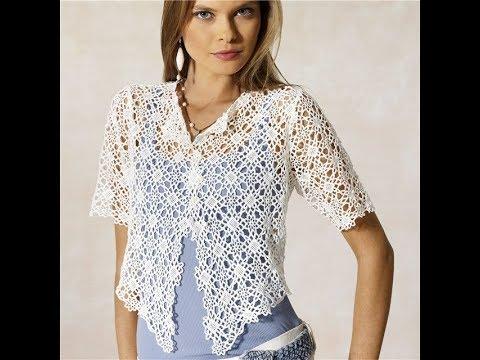 Женские Ажурные Кофточки Крючком - 2018 / Women's Lace Blouses Crochet / Damen Spitzenblusen