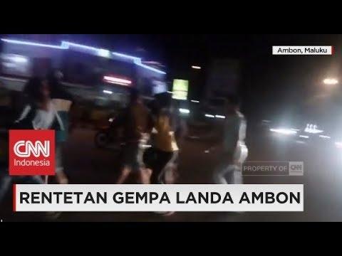 Rentetan Gempa Landa Ambon