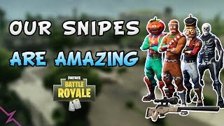 Fortnite - Our snipes are amazing - ft. Ninja, TimTheTatMan, and Ruski - July 2018 | DrLupo