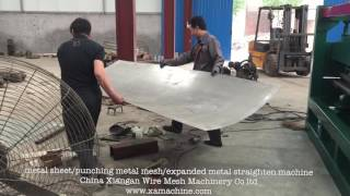 Straightening machine/ metal sheet/expanded metal mesh/punching metal mesh
