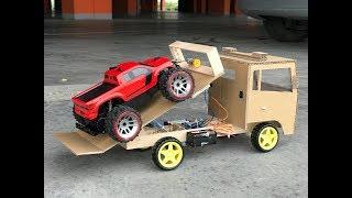 How to Make a Tow Truck from Cardboard