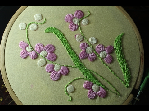 Hand Embroidery Designs Satin Stitch Stitch And Flower