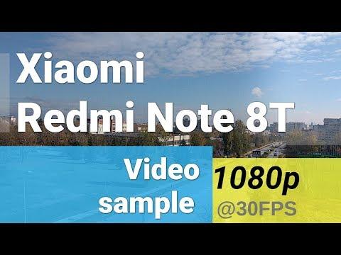 Xiaomi Redmi Note 8T 1080p video sample