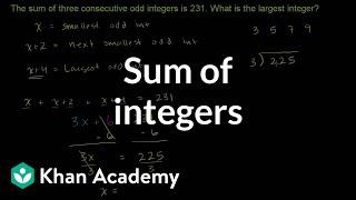 Sum of Consecutive Odd Integers