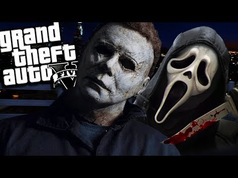 Michael Myers VS Ghostface MOD (GTA 5 PC Mods Gameplay)