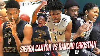 Sierra Canyon VS Rancho Christian CHAMPIONSHIP BATTLE TO END THE DECADE! #1 2020 Player VS #1 Team!
