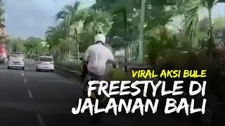 Video Viral Bule Lakukan Freestyle saat Berkendara di Bali, Polisi Lacak Motor yang Digunakan