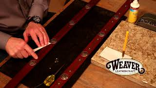 Making A Leather Belt Chapter 6: How To Add Conchos To A Belt