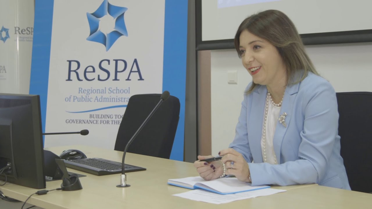 The video statement of Ms Ratka Sekulović, ReSPA Director