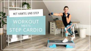 Workout meets Cardio - auf dem Stepper - mit Kurzhantel // mit Warm up + Cool Down // 13.11.20