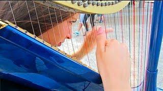 POMPEII by BASTILLE - On Electroacoustic Harp!   Lara Somogyi