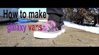 How To Make: Galaxy Custom Vans