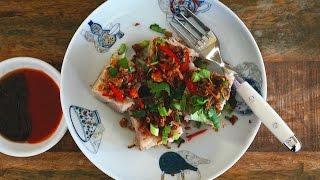 Steamed Orh Kueh (Kueh Keladi) (Savoury Taro/Yam Cake)
