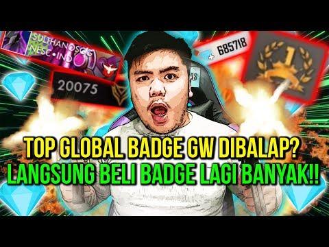 TOP GLOBAL BADGE GW DIBALAP ORANG BRAZIL? SULTAN AUTO NGAMUK! - Free Fire Indonesia #94