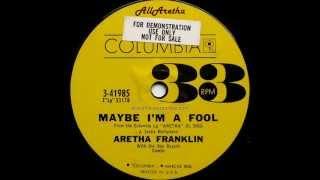 Aretha Franklin - Are You Sure / Maybe I'm A Fool - 7″ 33 RPM DJ Promo - 1961