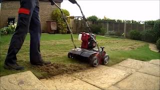 SCARIFYING MOSS AND THATCH OUT OF A SMALL LAWN