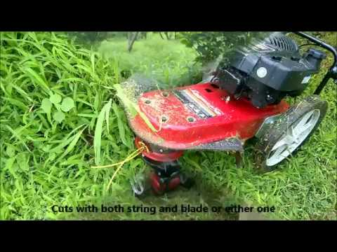 WST wheeled String Trimmer Brush Mower for Wild Grass Not Cubcadet