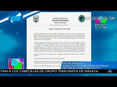 Policía Nacional informa sobre suceso en Bonanza