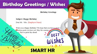 Happy Birthday Wishes for Employees / co-worker | Happy Birthday | Birthday Wishes from Smart HR