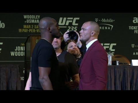 Les face-à-face de la conférence de presse de l'UFC 235