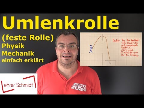 Umlenkrolle (feste Rolle) | Physik - Mechanik - einfach erklärt