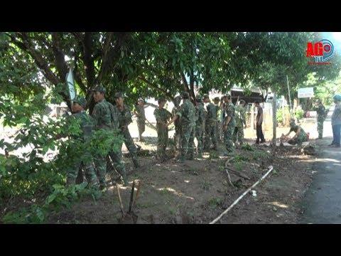 Trung Đoàn bộ binh 892 phối hợp xã Định Thành lao động giúp dân xây dựng nông thôn mới