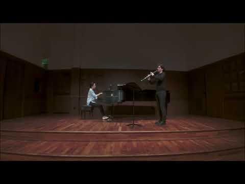 Weber - Clarinet Concertino in E flat major, Op. 26  Sérgio Coelho, clarinet Seonmi Lee, piano
