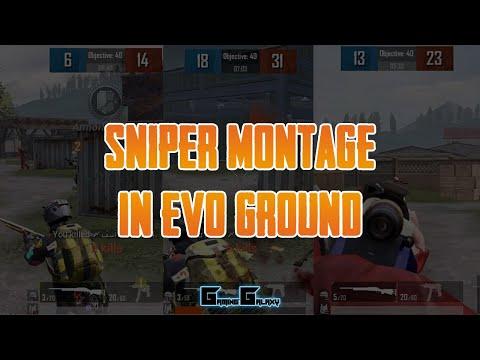 Sniper Montage in Evo-Ground | PUBG Mobile (Emulator)