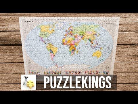 Political World Map Puzzle - Time Lapse   Puzzle Kings