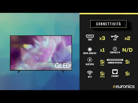 "SAMSUNG TV QLED 4K 65"" QE65Q60A Smart TV Wi-Fi  2021 Black"