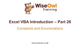Download Youtube: Excel VBA Introduction Part 26 - Constants and Enumerations (Const, Enum)