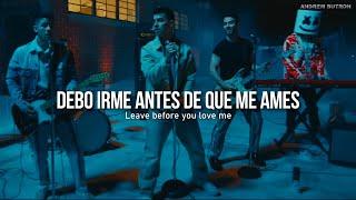 Marshmello, Jonas Brothers - Leave Before You Love Me   Español + Lyrics (VIDEO OFICIAL) HD