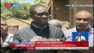 IEBC CEO Ezra Chiloba gives an update of the alleged stolen BVR kits