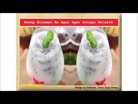 Video Resep Minuman Es Agar Agar Kelapa Selasih