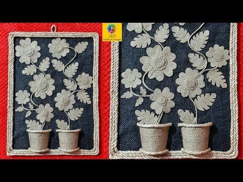 Diy Easy Room Decor Jute Wall Hanging Jute Work Wall Piece Using