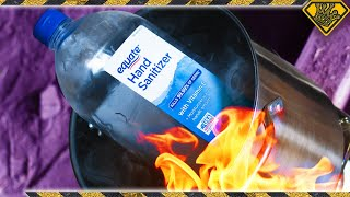 Testing the Flammable Properties of Hand Sanitizer