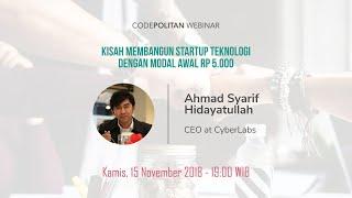 Kisah Membangun Startup Teknologi dengan Modal Awal Rp 5.000