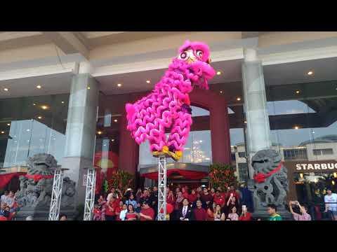 CNY2018~ Acrobatic Lion Dance (múa lân 跳樁舞獅) by Kun Seng Keng KL 关圣宫@ IOI Mall Puchong