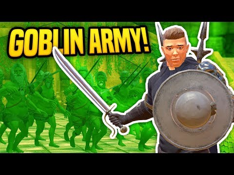 GOBLIN ARMY ATTACKS ME IN VIRTUAL REALITY - Blades and Sorcery VR Mods