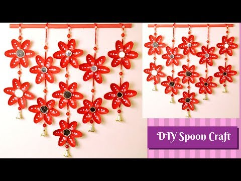 Best Out Of Waste Plastic Spoon Craft