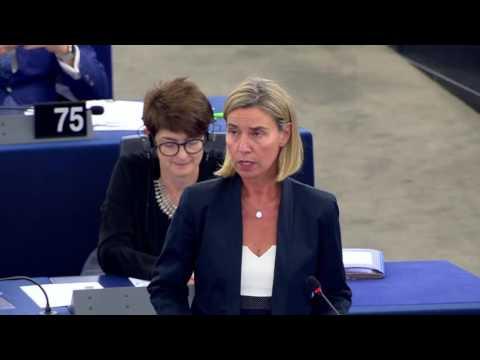 Federica Mogherini debates EU-Tunisia relations at the European Parliament Plenary