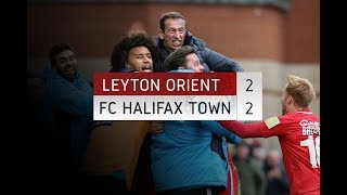 HIGHLIGHTS: Leyton Orient 2-2 FC Halifax Town