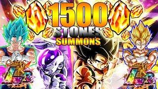 LR GOKU & FRIEZA WILL BE MINE!!! 1500+ DRAGON STONES SUMMONS | #DOKKANBATTLE