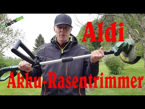 18V Akku-Rasentrimmer - Aldi - Gardenline Testbericht